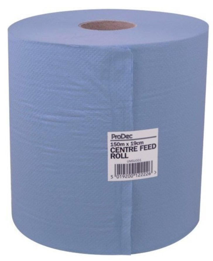 ProDec Blue 2-Ply Centre Feed Towel, 150m
