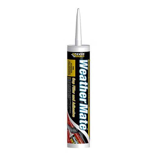 Everbuild Weather Mate Sealant, White, 310 ml
