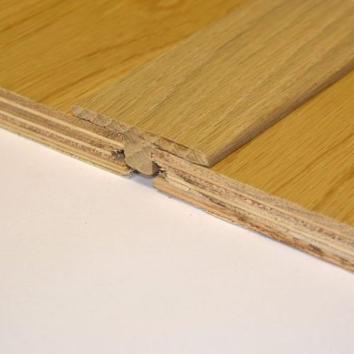 Unfinished Solid Oak T-Shaped Threshold, 90 cm